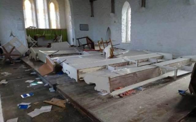 Damage to the Holy Trinity Church on the Errislannan peninsula.