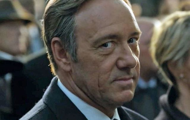 Kevin Spacey in the hit drama House of Cards.