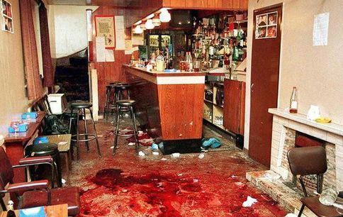 The aftermath of the Loughinisland massacre.