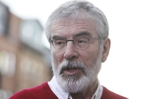 Gerry Adams was less than impressed to be left standing at the door to the White House on St.Patrick\'s Day.