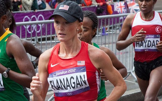 2017 New York Marathon winner Shalane Flanagan.