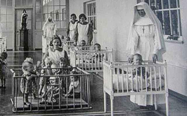 Nuns at the Bon Secour Mother and Baby Home in Tuam, in Galway, overseeing care of babies and young mothers.