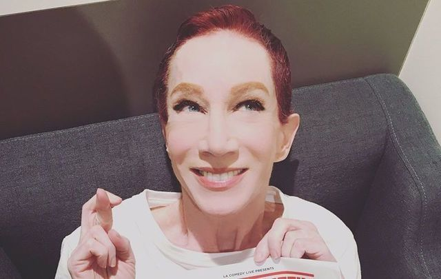 Kathy Griffin is currently touring the world with Laugh Your Head Off.