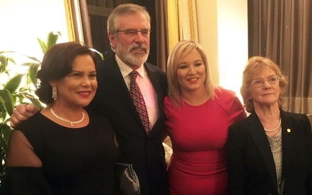 Mary Lou McDonald, Gerry Adams, Michelle O\'Neill and Rita O\'Hare at the Friends of Sinn Fein fundraiser, in New York.
