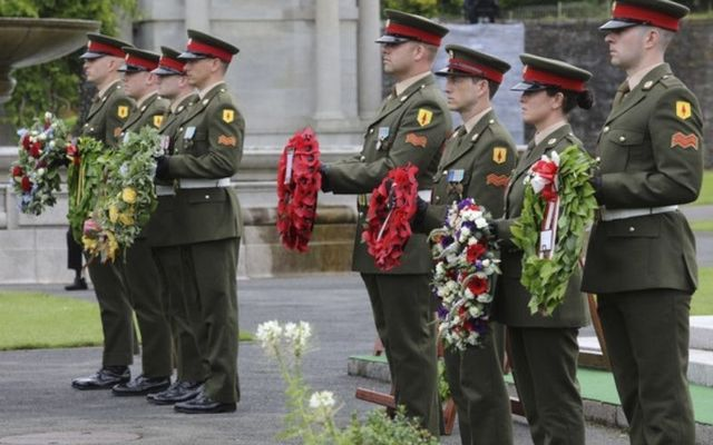 Irish soldiers remember the soldiers who lost their lives during the First World War.