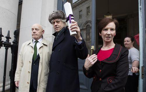 Bob Geldof with the Freedom of Dublin.