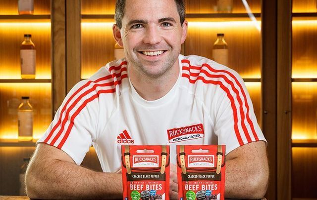 Colm Connolly with packets of his Rucksnacks.\n