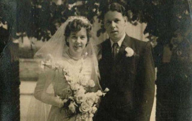 A wedding photo of my grandmother I discovered via Ancestry.com.