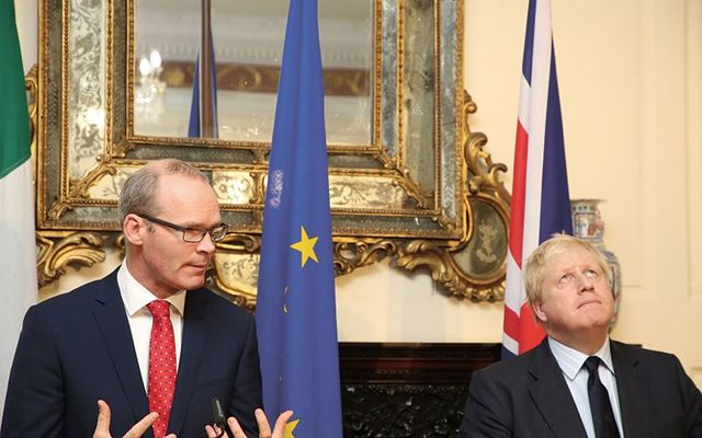 Simon Coveney and Boris Johnson in Dublin.