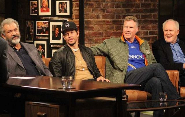 Mel Gibson, Will Ferrell, Mark Walhberg and John Lithgow on the Late Late Show