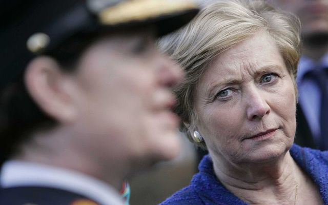 The then Minister for Justice Frances Fitzgerald (right) and then garda commissioner Noirin O\'Sullivan.