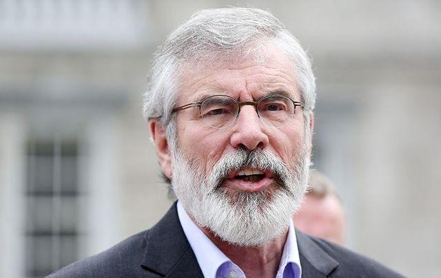 Sinn Fein\'s Gerry Adams.