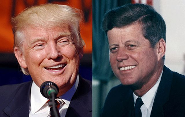 President Donald Trump and President John F. Kennedy.