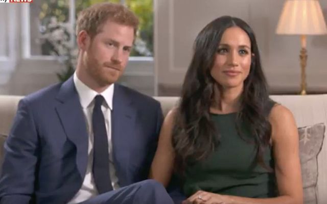Prince Harry and Meghan Markle speak about their engagement.