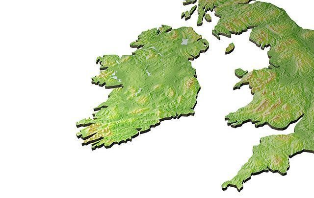 Could you draw in where on the map the Northern Ireland border with this Republic is?
