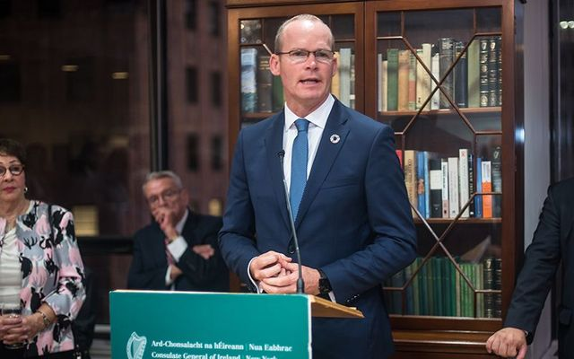 Simon Coveney speaking at the US Consulate in New York.