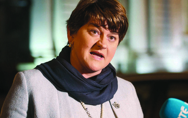 Democratic Unionist Party leader, Arlene Foster.