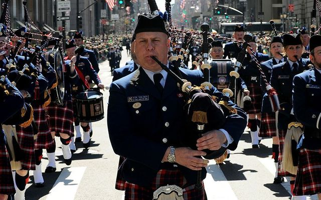 Piper in the New York St. Patrick\'s Day parade on Fifth Avenue.