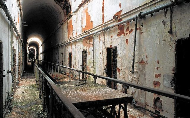 Inside the Eastern State Penitentiary.