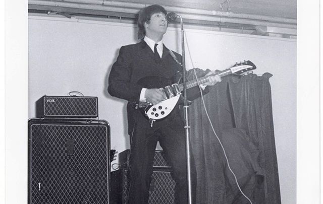 John Lennon performing in Belfast.