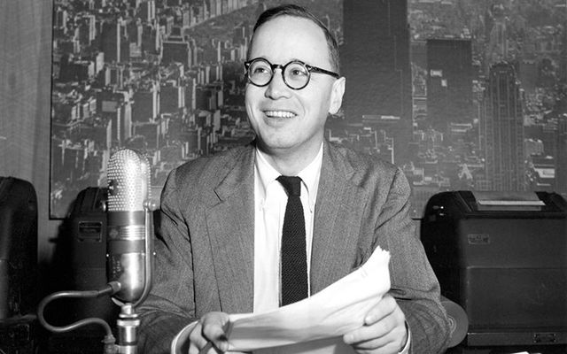 Arthur M. Schlesinger, Jr, photographed at NBC in 1951.