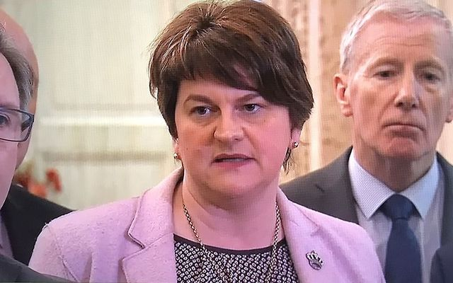 Arlene Foster, leader of the DUP, saying no live from Stormont to the first Brexit deal on December 4.