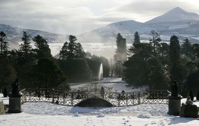 The Italian gardens at Powerscourt Estate in Co. Wicklow