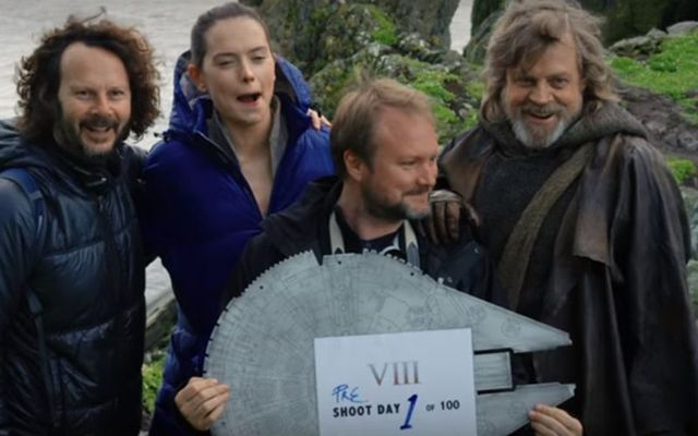 Behind the scenes with Tourism Ireland on the first day of filming of Star Wars: The Last Jedi.