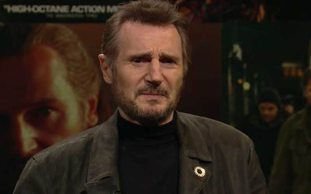 "Liam Neeson, who appeared on The Late Late Show, called the #MeToo movement a ""witch hunt.\"""