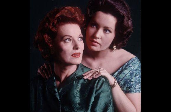 Bronwyn with her mother, Maureen O\'Hara.
