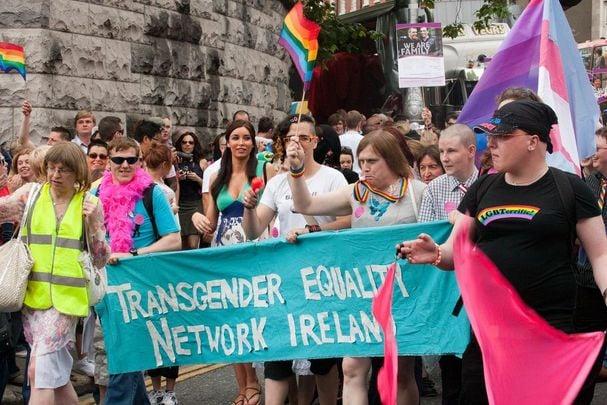 Trans activists at Dublin Pride