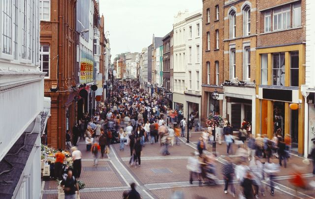Dublin\'s Grafton Street has been the shopping and social hub of the capital since Victorian times
