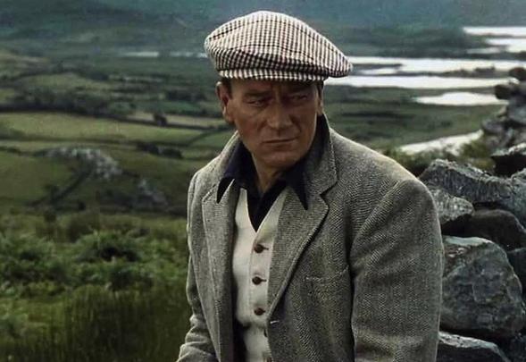"John Wayne filming \""The Quiet Man\"" in Cong, County Mayo."