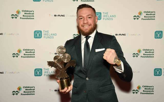 Conor McGregor at the Best of Ireland Gala.