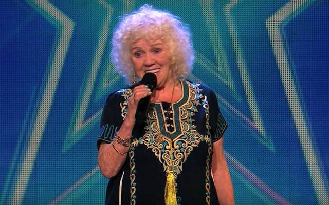81-year-old Evelyn Williams on \'Ireland\'s Got Talent.\'