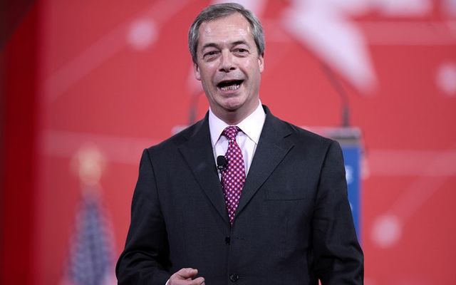 Former U.K. Independence Party leader and Member of European Parliament Nigel Farage.