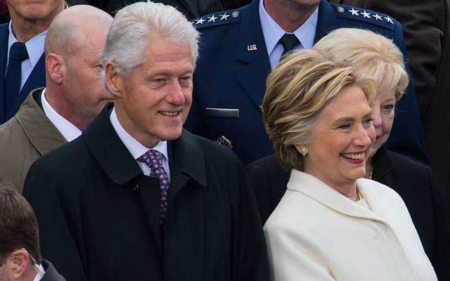 Bill and Hillary Clinton.