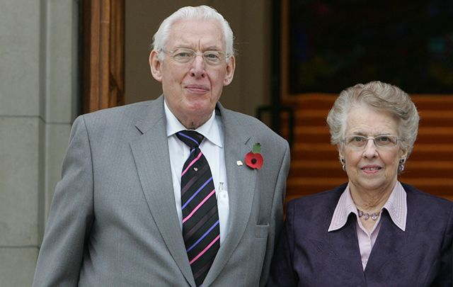 Ian Paisley and Eileen Paisley.