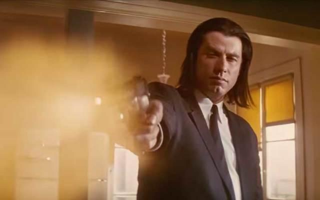 "John Travolta in Quentin Tarantino\'s \""Pulp Fiction.\"""