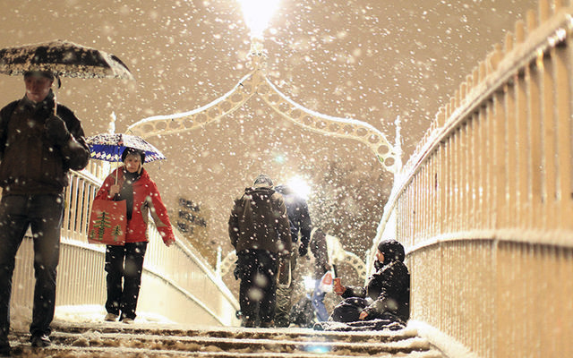 """The \""""Big Freeze\"""" of 2010: Ireland braces itself for the worst snow storm in 36 years."""