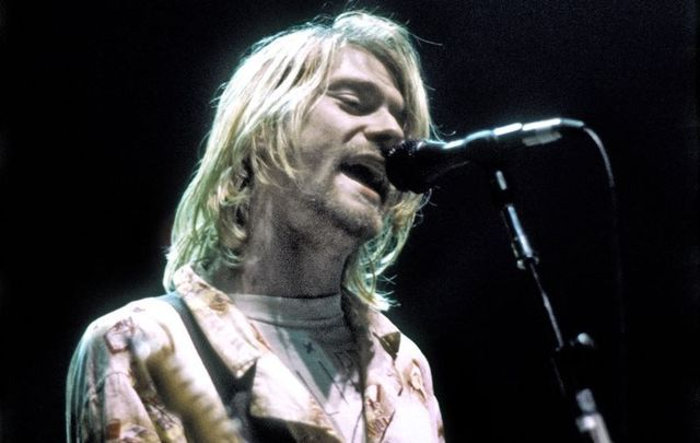 Kurt Cobain, pictured here playing his last US concert at the Seattle Arena on January 7, 1994 in Seattle, Washington.