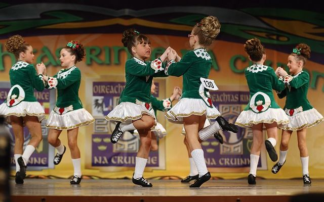 Young Irish dancers compete at the World Championships.