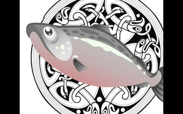 Finn Mac Cumhaill burned his thumb on the Salmon of Knowledge and put it in his mouth to sooth it.