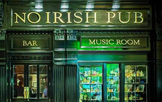 "The \""No Irish\"" Pub."