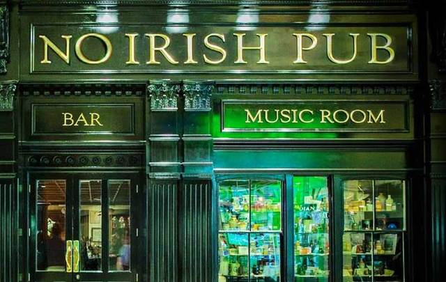 "The ""No Irish\"" Pub."
