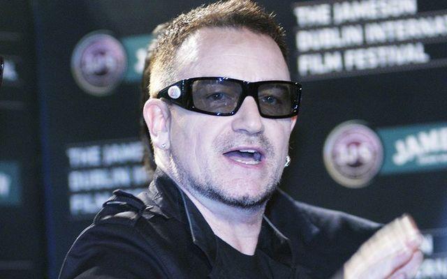 Bono, the frontman of U2.
