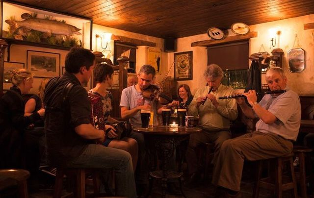 A pub session in Donegal