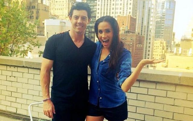 Rory McIlroy and Meghan Markle taking part in the Ice Bucket Challenge in ALS.