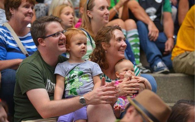 A family at the Milwaukee Irish Fest.
