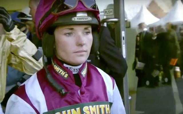 Snapshot of Irish jockey Katie Walsh.